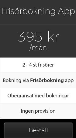 Priser bokningssystem 2 frisörer egen app