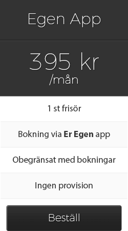 Priser bokningssystem 1 frisör app
